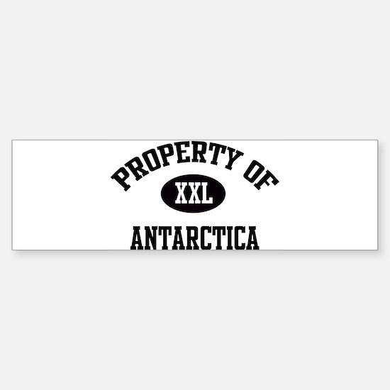 Property of Antarctica Bumper Bumper Bumper Sticker