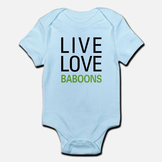 Live Love Baboons Infant Bodysuit