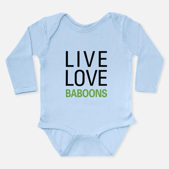Live Love Baboons Long Sleeve Infant Bodysuit