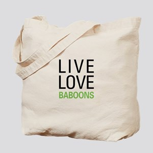 Live Love Baboons Tote Bag
