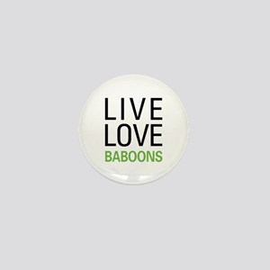 Live Love Baboons Mini Button