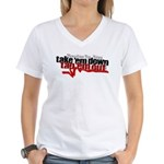 Take em down Tap em out Women's V-Neck T-Shirt