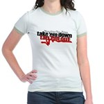 Take em down Tap em out Jr. Ringer T-Shirt