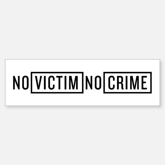 No Victim No Crime Sticker (Bumper)