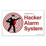 Hacker Alarm Rectangle Sticker