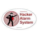 Security Oval Sticker