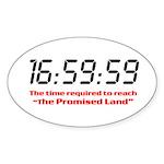 """16:59:59"" Oval Sticker"