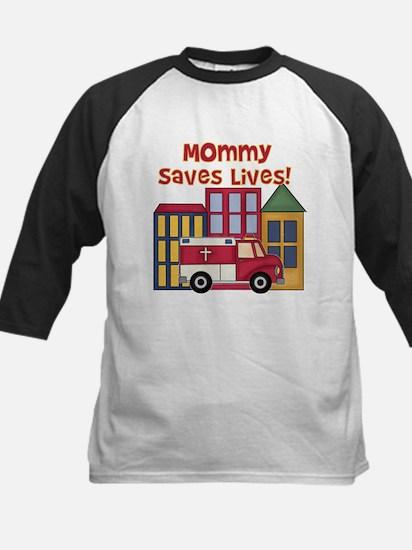 EMS Mommy Saves Lives Kids Baseball Jersey