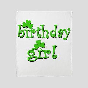 Irish Birthday Girl Throw Blanket
