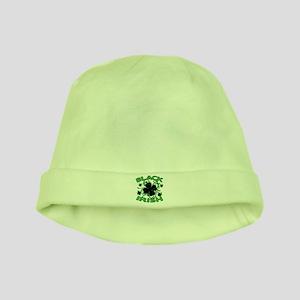 Black Shamrocks Black Irish baby hat