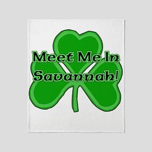 Meet Me In Savannah Throw Blanket