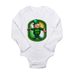 Wee Irish Leprechaun Long Sleeve Infant Bodysuit