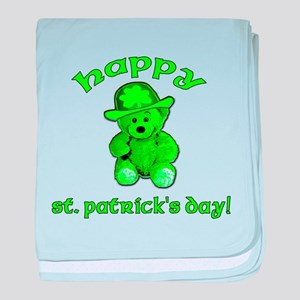 Green Teddy Bear baby blanket