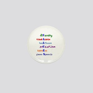 Liberal Moral Values Mini Button