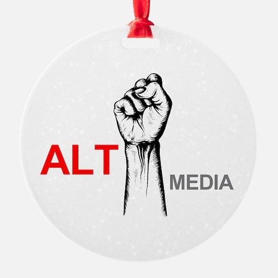 Funny News media Ornament