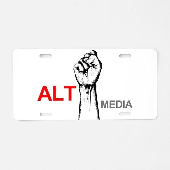 Cute Media Aluminum License Plate