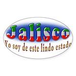 Jalisco Lindo Estado Sticker (Oval)