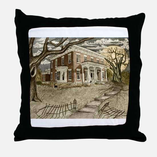 Cool Haunted mansion Throw Pillow