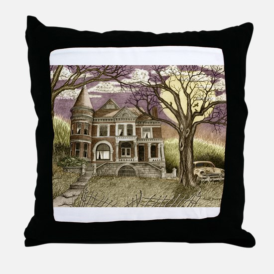 Funny Haunted mansion Throw Pillow