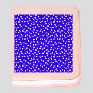 Blue Floral Cuddle Splendor Baby Blanket