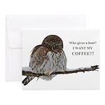 Coffee Owl Notecards (Set of 10)