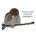 Coffee Owl Postcards (Package of 8)