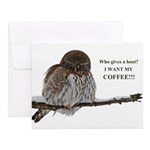 Coffee Owl Notecards (Set of 20)