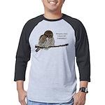 Coffee Owl Mens Baseball Tee
