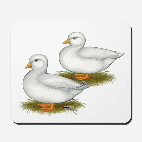White Call Ducks Mousepad