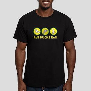 Roll Ducks Roll Men's Fitted T-Shirt (dark)