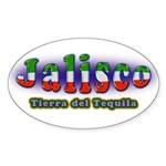 Tierra del Tequila Sticker (Oval 50 pk)