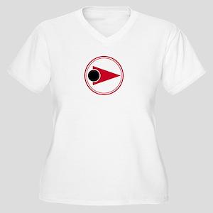 Eagle Pilot Crest Women's Plus Size V-Neck T-Shirt
