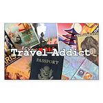 Travel Addict Sticker