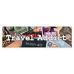 Travel Addict Bumper Sticker