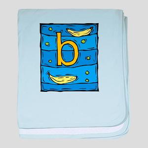 B is for BANANA baby blanket