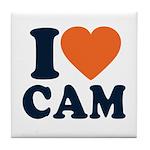 Cam Love Tile Coaster