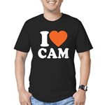 Cam Love Men's Fitted T-Shirt (dark)