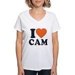 Cam Love Women's V-Neck T-Shirt