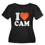 Cam Love Women's Plus Size Scoop Neck Dark T-Shirt