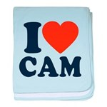 Cam Love baby blanket