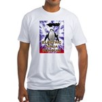 Electric Ninja Penguin Fitted T-Shirt