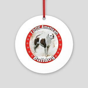 100% American Bulldog Ornament (Round)