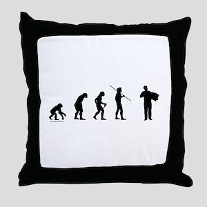 Accordion Evolution Throw Pillow