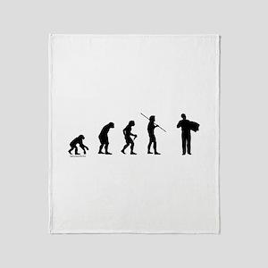 Accordion Evolution Throw Blanket