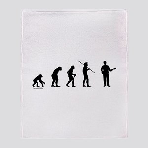 Banjo Evolution Throw Blanket