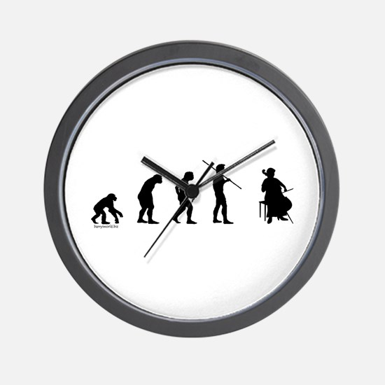Cello Evolution Wall Clock