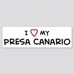I Love Presa Canario Bumper Sticker