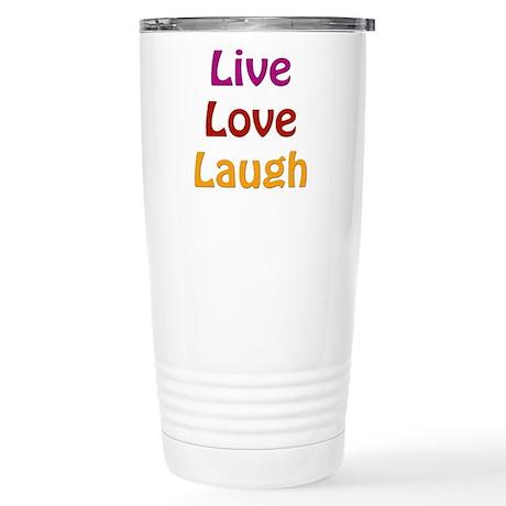Live Love Laugh 16 oz Stainless Steel Travel Mug