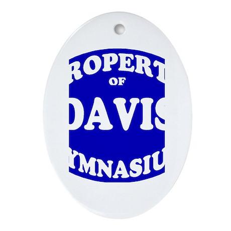 Davis gym Ornament (Oval)