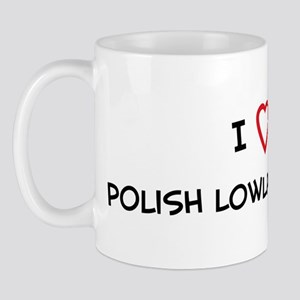 I Love Polish Lowland Sheepdo Mug